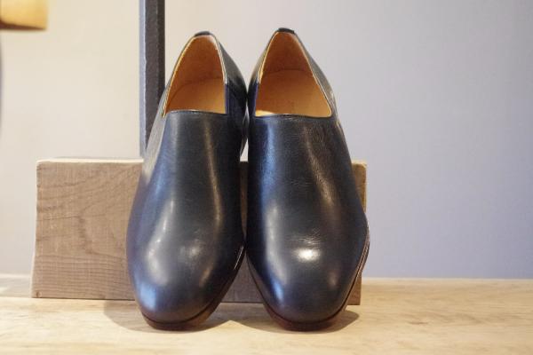 スリッポン靴|ネイビー