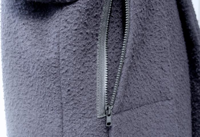 レディースオーダーメイドコート|脇ポケットファスナー