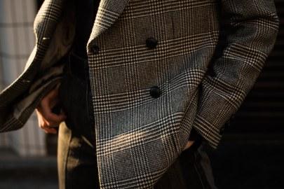 レディースオーダージャケット|グレンチェック柄