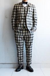 カジュアルウェディングスーツ チェック柄新郎衣装