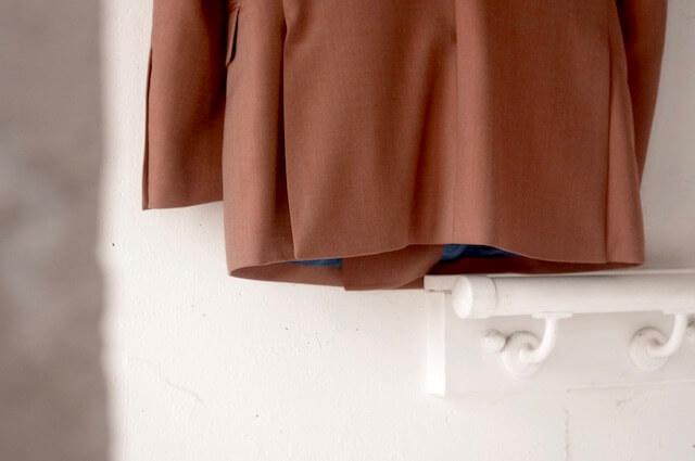 ソラーロの生地を使ったダブルブレステッドスーツのオーダーメイド