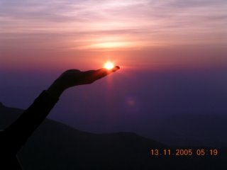 The Sun in her palm…