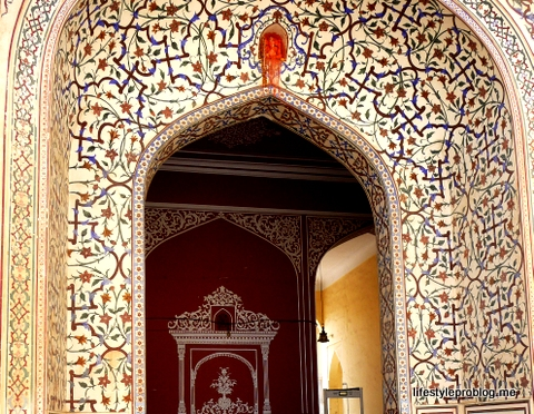 Intricate Painted Door