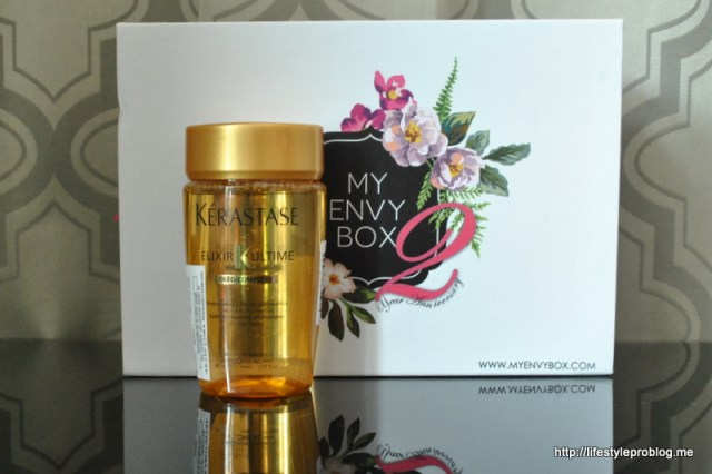 My Envy Box October 2015 Kerastase Elixir Ultimate Sublime Cleaning Oil Enriched Shampoo