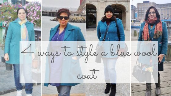 4 ways to style a blue wool coat