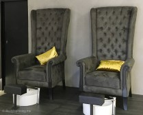 Laque Nail & Lash Salon Couch