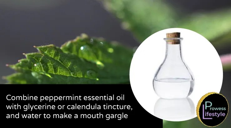 Use Glycerine and Peppermint Essential Oil to Make a Mouth Gargle