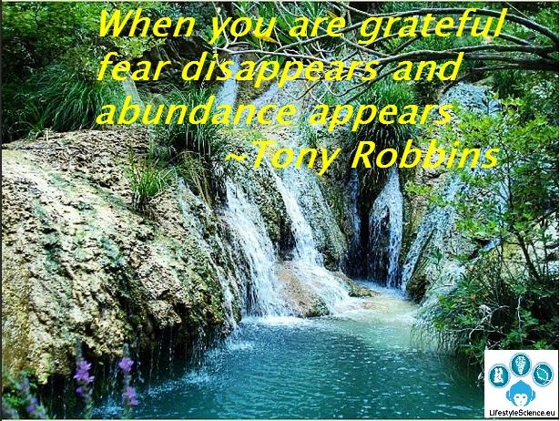 robbins fear gratitude