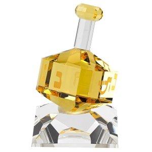 Badash Crystal Amber Crystal Dreidel On Stand -H141A