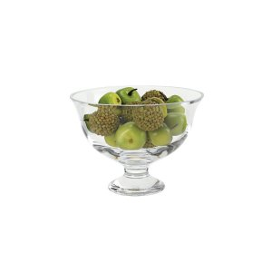 Badash Crystal Monica European Mouth Blown Medium Pedestal or Small Lead Free Crystal Fruit Bowl - SR703