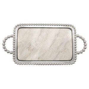 "Mariposa Pearled Marble <a href=""https://lifestylesgiftware.com/product/mariposa-pearled-marble-charcuterie-board/""> Charcuterie Board</a>"