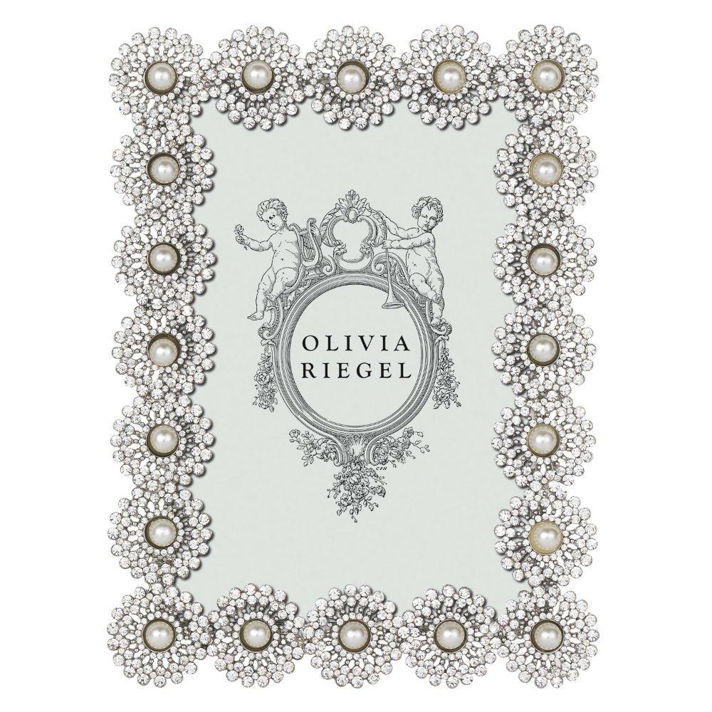 "Olivia Riegel Princess Crystal 4/"" x 6/""  Photo Frame  NEW In Box"