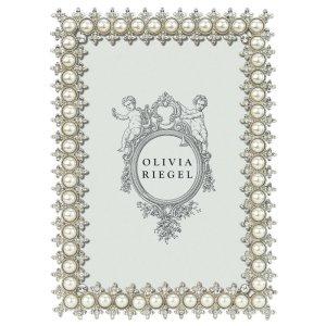 Olivia Riegel Silver Crystal Pearl 4 x 6 inch Frame - 150246