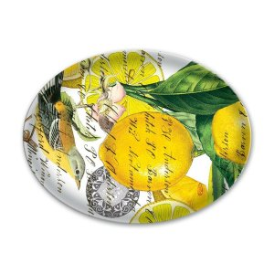 Michel Design Works Lemon Basil Glass Soap Dish GSD8