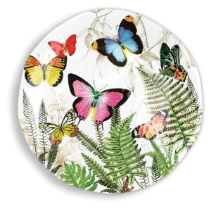 Michel Design Works Papillon Large Round Platter SWPRL298