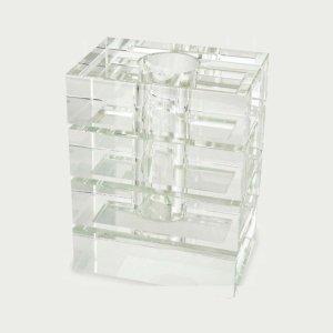 Tizo Design Crystal Glass Rectangle Stripe Vase PH422VAS