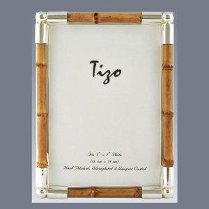 Tizo Design Silverplate Bamboo Frame 1053BAM