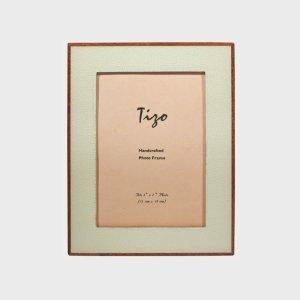 Tizo Design White Wood Frame with Polished Wood Back NC188WH