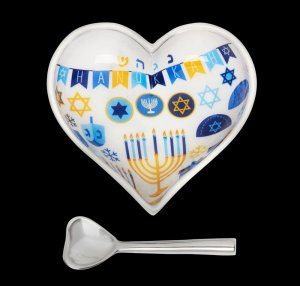Heart bowl and spoon set