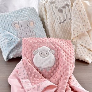 Giftcraft White/Lil Llama Double Sided Blanket