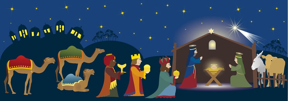 3 Kings Gifting Jesus