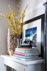 home decor // framed instagram photos in the living room ...