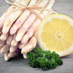 White Asparagus, Lemon & Kale