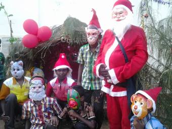 Christmas Celebration in an Orphanage