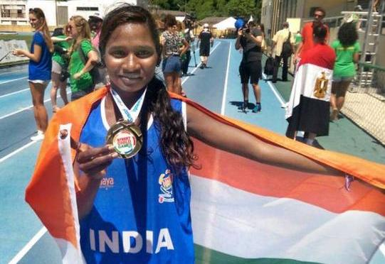 Hepsiba, the Chennai Girl, won gold at street child games in Rio De Janeiro