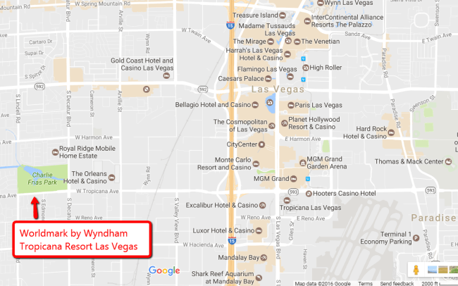 wyndham_tropicana_las_vegas_google_map