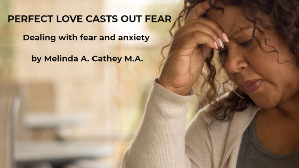 A woman with anxiety and fear