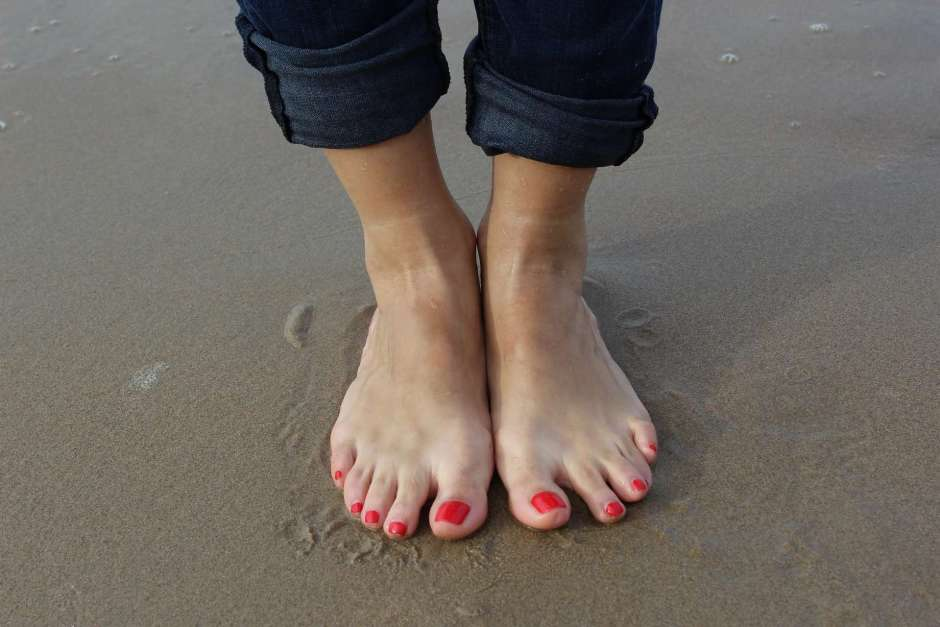 Recovered ankles at the beach