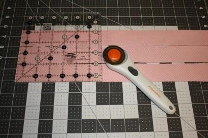 Cutting Pink Fabric