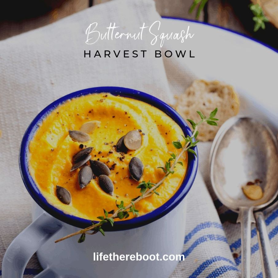 bowl of butternut squash soup
