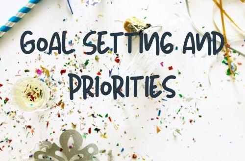 priorities goal setting