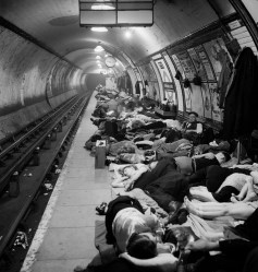 People Sheltering in the Tube, Elephant and Castle Underground Station, Bill Brandt, 1940