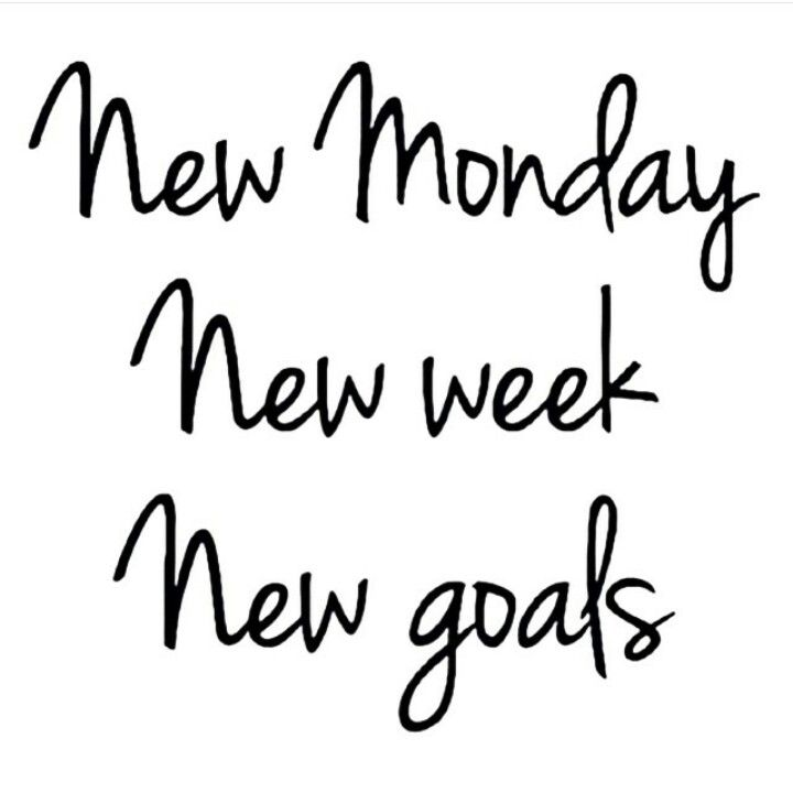 new week new goals