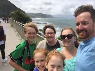 On sea cliff bridge