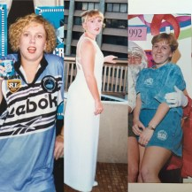 Sharks jersey '96 short bob with a perm what was I thinking, early '96 before the short bob, '92 short!