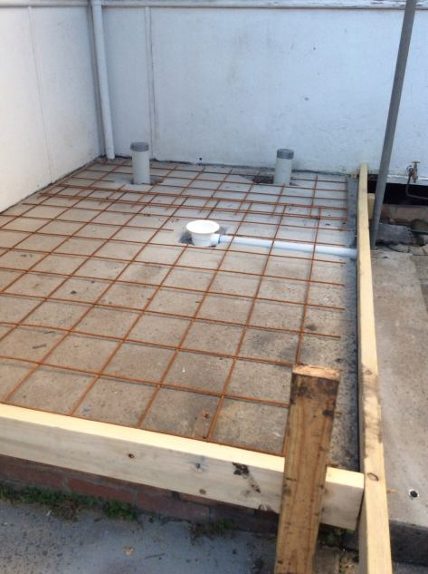 getting reading for concreting