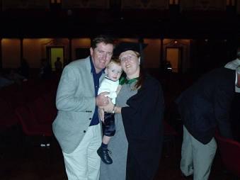 Family photo 2004 at my graduation ceremony.