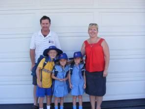 Lily & Charli starting school 2011
