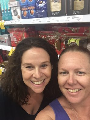 The ppl you meet in Coles in Port Mac!!! So glad you said hi Sam was a brief but lovely chat!! xoxo