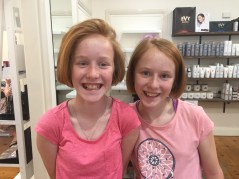 Donating our hair to charity