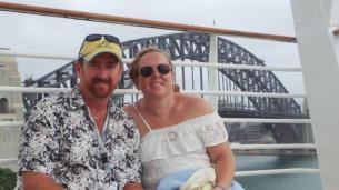 Mr Haze and I before leaving Sydney
