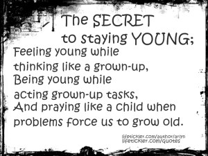 the secret to staying young