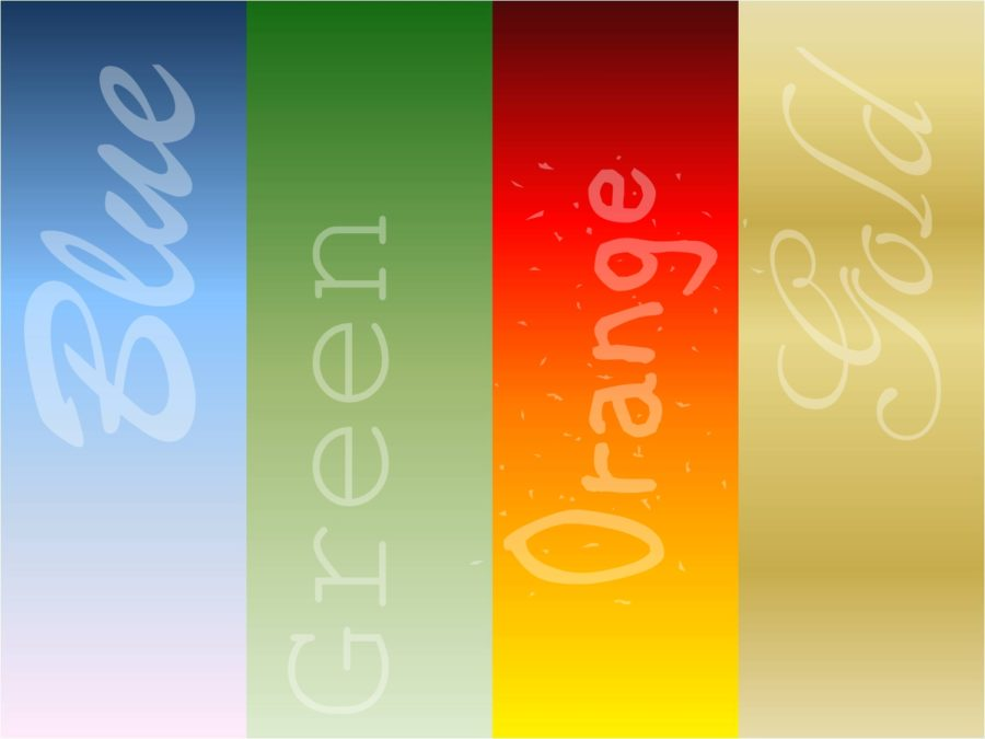personality true colors - blue, green, orange, gold