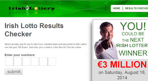 Irish lottery Results Checker
