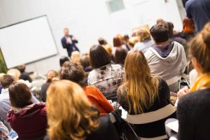 classroom discussion - the professor is lecturing
