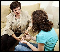 woman seeking guidance from a counselor